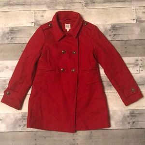 Girls Red Gap Kids Holiday Coat Size M